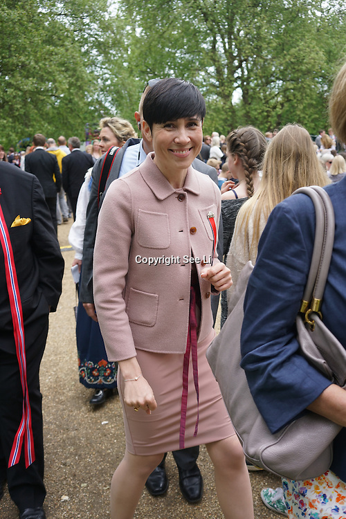 London,England,UK : 17 May 2016 : Minister of Defence  of Norway Ine Eriksen Søreide the London Celebrates Norway Day on 17th May 1814 at Southwark park. Photo by See Li