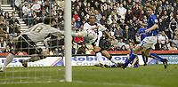 Photo: Aidan Ellis.<br /> Derby County v Leicester City. Coca Cola Championship. 01/10/2005.<br /> Derby's Mounir El Hamdaoui scores the equalising goal