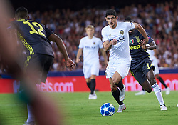 September 19, 2018 - Valencia, U.S. - VALENCIA,  - SEPTEMBER 19: Gonalo Guedes, midfielder of Valencia CF with the ball during the Champions League match between Valencia CF and Juventus FC at  Mestalla stadium on September 19, 2018 in Valencia, Spain. (Photo by Carlos Sanchez Martinez/Icon Sportswire) (Credit Image: © Carlos Sanchez Martinez/Icon SMI via ZUMA Press)