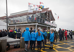 The annual RYA Youth National Championships is the UK's premier youth racing event. Day 2 with strong easterly winds dominating the venue the racing was again cancelled.<br /> <br /> Images: Marc Turner / RYA<br /> <br /> For further information contact:<br /> <br /> Richard Aspland, <br /> RYA Racing Communications Officer (on site)<br /> E: richard.aspland@rya.org.uk<br /> m: 07469 854599
