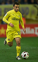 VILLAREAL, SPAIN - FEBRUARY 4: Giuseppe Rossi of Villarreal in action during the La Liga match between Villarreal CF and Levante UD at El Madrigal Stadium in Villarreal on Fabruary 4 2011. Levante won 0-1.(Photo by Xaume Olleros/SSP/DPPI)