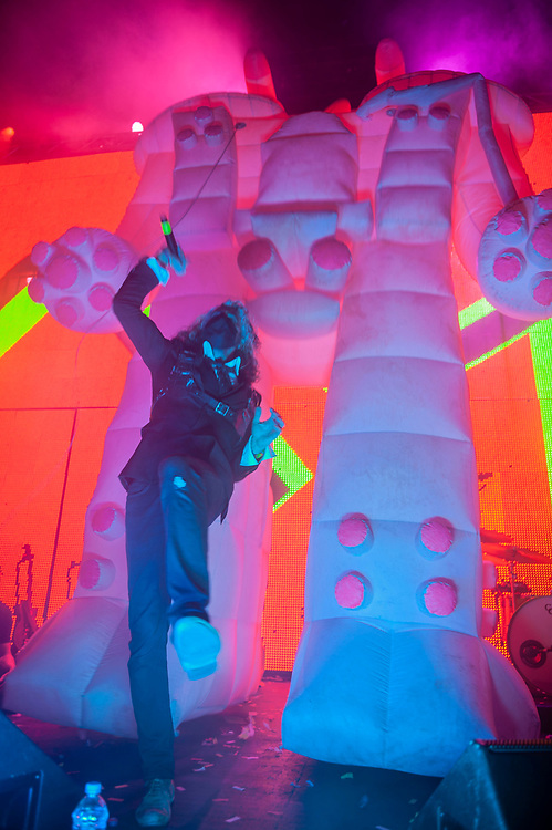 Flaming Lips performing at Pacific Amphitheatre August 26, 2021. (Photo by Miguel Vasconcellos, OC Fair & Event Center)