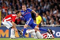 Fotball , 31. mai 2008 , Frankrike - Paraguay<br /> FRANCK RIBERY (FRA) / EDGAR BARRETO / AURELIANO<br /> <br /> Norway only