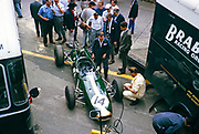 Belgian Grand Prix, Spa, Belgium, 1964. Jack Brabham BT7 car number 14, Brabham Racing Organisation