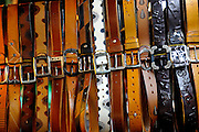 Leather belts for sale, Binh Thanh Market, Ho Chi Minh City (Saigon), Vietnam