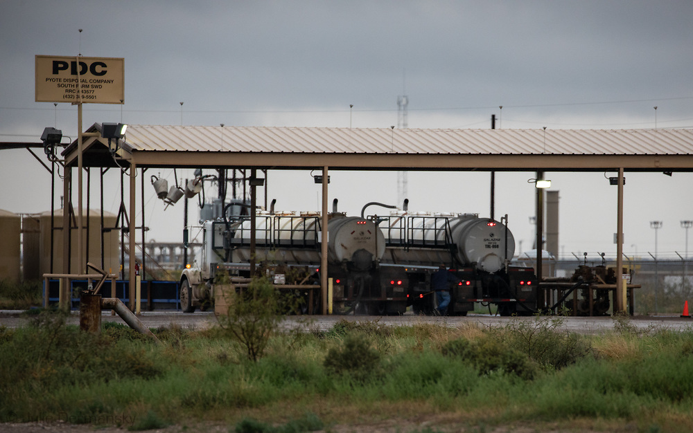 Wastewater injection site in the Permain Basin, in Texas.
