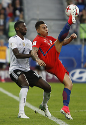 July 3, 2017 - Saint Petersburg, Russia - Eduardo Vargas (R) of Chile national team and Antonio Ruediger of Germany national team during FIFA Confederations Cup Russia 2017 final match between Chile and Germany at Saint Petersburg Stadium on July 2, 2017 in Saint Petersburg, Russia. (Credit Image: © Mike Kireev/NurPhoto via ZUMA Press)