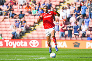 Ethan Pinnock of Barnsley (5) in action during the EFL Sky Bet League 1 match between Barnsley and Shrewsbury Town at Oakwell, Barnsley, England on 19 April 2019.