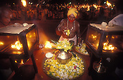 Sri Lanka. Shrine along the route of the procession around the temple compound during the annual festival.<br /> 1992