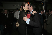 Plum Sykes and Tom Sykes,  Book launch for ' What Did I Do last night' by Tom Sykes. Century Club. Shaftesbury Ave. London. 16 January 2006. -DO NOT ARCHIVE-© Copyright Photograph by Dafydd Jones. 248 Clapham Rd. London SW9 0PZ. Tel 0207 820 0771. www.dafjones.com.