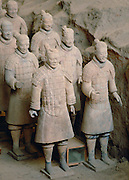 Terracotta Army warriors at the tomb of Emperor Qin Shi Huang at Lingtong in Xian, China