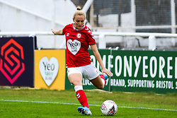Jemma Purfield of Bristol City Women crosses the ball- Mandatory by-line: Will Cooper/JMP - 18/10/2020 - FOOTBALL - Twerton Park - Bath, England - Bristol City Women v Birmingham City Women - Barclays FA Women's Super League