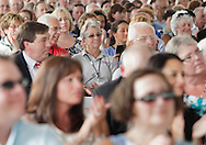 People applaud during a ribbon-cutting ceremony at Orange Regional Medical Center's new hospital in the Town of Wallkill on Friday, July 29, 2011.