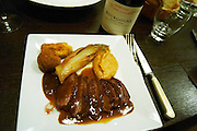 grilled duck's breast le gourmandin restaurant beaune cote de beaune burgundy france