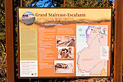 Interpretive sign and map of Grand Staircase-Escalante National Monument, Utah