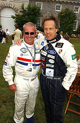 """Left to right, racing driver HURLEY HAYWOOD and The EARL OF MARCH at the Goodwood Festival of Speed on 9th July 2006.  Cartier sponsored the """"Style Et Luxe' for vintage cars on the final day of this annual event at Goodwood House, West Sussex and hosted a lunch.<br /><br />NON EXCLUSIVE - WORLD RIGHTS"""
