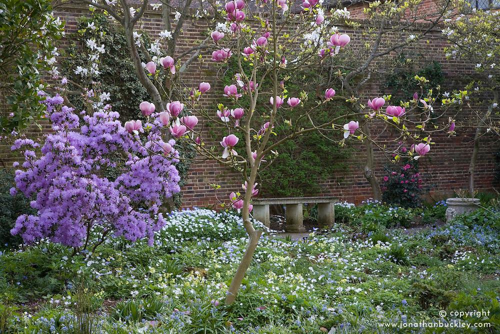 The Delos Garden at Sissinghurst Castle in spring