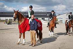 Vandecappelle Ine (BEL) - Fernandez<br /> SBB Competitie Jonge Paarden - Nationaal Kampioenschap - Kieldrecht 2014<br /> © Dirk Caremans