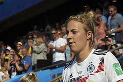 June 29, 2019 - Rennes, France - Carolin Simon (Olympique Lyon) of Germany during the 2019 FIFA Women's World Cup France Quarter Final match between Germany and Sweden at Roazhon Park on June 29, 2019 in Rennes, France. (Credit Image: © Jose Breton/NurPhoto via ZUMA Press)