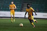 Jordan Green of Newport county in action.EFL Skybet football league two match, Newport county v Barnet at Rodney Parade in Newport, South Wales on Tuesday 25th October 2016.<br /> pic by Andrew Orchard, Andrew Orchard sports photography.