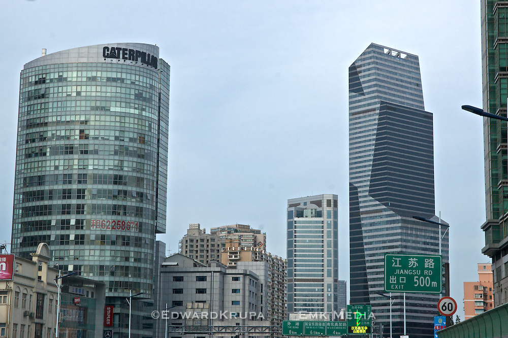Some Shanghai office buildings from expressway.