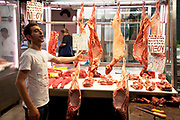 Agora on Athinas Street, otherwise known as the Athens Central Market. The meat market is under cover and full of the atmospheric buzz of a lively market with each stall showing of their meats with carcasses hanging up. Some of the butchers come from generations who have had stalls in the market for a century. In the last few years the EU has made the market comply with their standards and now meat is kept cool, but the atmosphere is still the same and the experience is certainly what shopping was meant to be. Athens is the capital and largest city of Greece. It dominates the Attica periphery and is one of the world's oldest cities, as its recorded history spans around 3,400 years. Classical Athens was a powerful city-state. A centre for the arts, learning and philosophy.