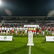 Besiktas's players and Trabzonspor's players during their Turkish Superleague soccer derby match Besiktas between Trabzonspor at the Inonu Stadium at Dolmabahce in Istanbul Turkey on Sunday, 21 October 2012. Photo by TURKPIX