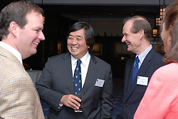 Reception at 21 Club NYC 18 Sept 2007 Honoring the endowment of the Maurice R. Greenberg Visiting Professorship of Law at Yale Law School. Established by a gift from David Boies, LL.B. 1966, and Mary M. Boies, in honor of Maurice R. Greenberg. Shown unknown far left, Harold Koh left, David Boies right, Mary Boies far right.