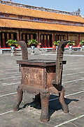 Incense burner in The Mieu Temple courtyard, Hue Citadel / Imperial City, Hue, Vietnam