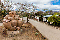 one of the soapstone statue sculpture of San Juan de Limay Madriz in Nicaragua