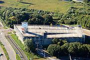 Nederland, Utrecht, Utrecht, 30-09-2015; Westraven, parkeergarage voor P+R Westraven. Direct langs de A12.<br /> <br /> luchtfoto (toeslag op standard tarieven);<br /> aerial photo (additional fee required);<br /> copyright foto/photo Siebe Swart