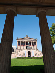 Exterior of Alte Nationalgalerie on Museum Island  or Museumsinsel in Mitte Berlin Germany