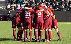 Skive's spillere gør sig klar til kampen i 1. Division mellem FC Helsingør og Skive IK den 18. oktober 2020 på Helsingør Stadion (Foto: Claus Birch).