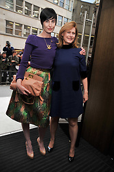 Left to right, ERIN O'CONNOR and SARAH BROWN wife of Prime Minister Gordon Brown at a reception hosted by Vogue and Burberry to celebrate the launch of Fashions Night Out - held at Burberry, 21-23 Bond Street, London on 10th September 2009.