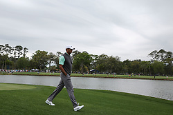 March 16, 2019 - Ponte Vedra Beach, FL, U.S. - PONTE VEDRA BEACH, FL - MARCH 16: Tiger Woods of the United States walks on the 18th hole during the third round of THE PLAYERS Championship on March 16, 2019 on the Stadium Course at TPC Sawgrass in Ponte Vedra Beach, Fl. (Photo by David Rosenblum/Icon Sportswire) (Credit Image: © David Rosenblum/Icon SMI via ZUMA Press)