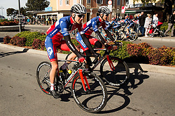 PER Gorazd (SLO) of Adria Mobil and KATRAŠNIK Gašper (SLO) of Adria Mobil during the UCI Class 1.2 professional race 4th Grand Prix Izola, on February 26, 2017 in Izola / Isola, Slovenia. Photo by Vid Ponikvar / Sportida