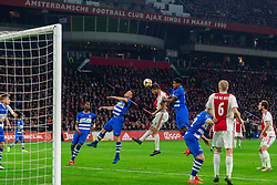 13-03-2019 NED: Ajax - PEC Zwolle, Amsterdam<br /> Ajax has booked an oppressive victory over PEC Zwolle without entertaining the public 2-1 / Vito van Crooij #7 of PEC Zwolle, Klaas Jan Huntelaar #9 of Ajax, Darryl Lachman #29 of PEC Zwolle