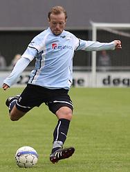 FODBOLD: Martin Junior Christensen (Helsingør) under kampen i Danmarksserien, pulje 1, mellem Elite 3000 Helsingør og Frederikssund IK den 19. juni 2010 på Helsingør Stadion. Foto: Claus Birch