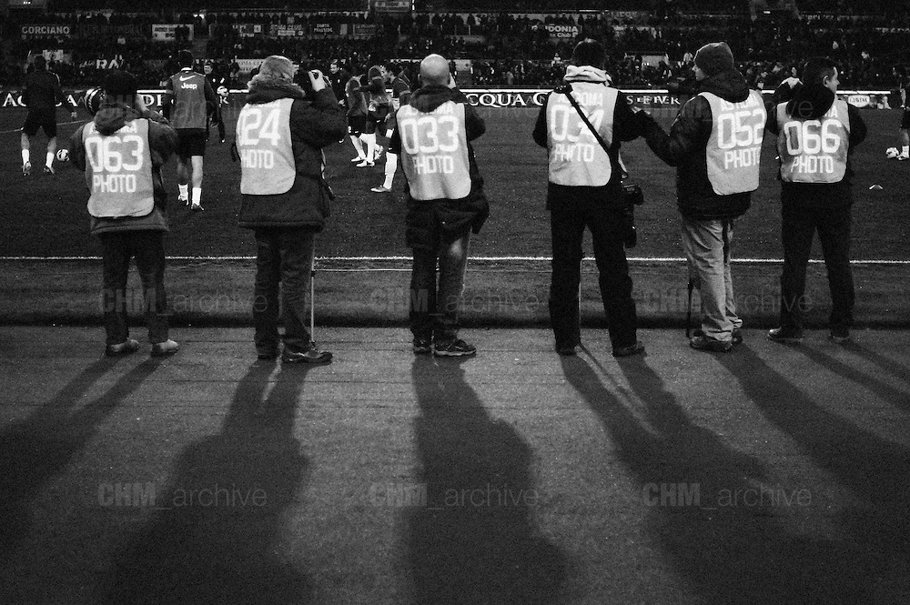 Fotografi a bordo campo durante Roma vs Juventus. Stadio Olimpico. 16 febbraio 2013. Christian Mantuano / Oneshot