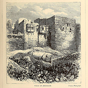 Walls of Jerusalem From the book 'Those holy fields : Palestine, illustrated by pen and pencil' by Manning, Samuel, 1822-1881; Religious Tract Society (Great Britain) Published in 1874