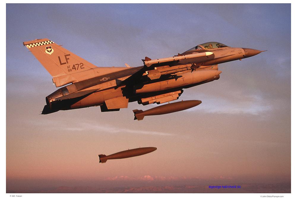 F-15C dropping 2K bombs