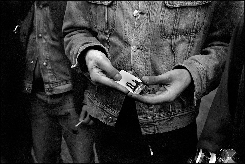 Man holds match book made to look like Twin Towers
