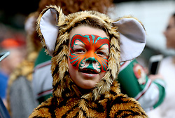 Leicester Tigers supporter during the Aviva Premiership match at Welford Road, Leicester.