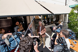 Bill Murray with Simon Vadnjal at exclusive after-work get-together in the company of Slovenia Vodka on June 5, 2017 in Restaurant and Bar Atelje, Ljubljana, Slovenia. Photo by Matic Klansek Velej / Sportida