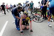 Foto Fabio Ferrari/LaPresse<br /> 23 maggio 2021 Italia<br /> Sport Ciclismo<br /> Giro d'Italia 2021 - edizione 104 - Tappa 15 - Da Grado a Gorizia (km 147)<br /> Nella foto: VAN EMDEN Jos (NED) (JUMBO-VISMA) <br /> <br /> Photo Fabio Ferrari/LaPresse<br /> May 23, 2021  Italy  <br /> Sport Cycling<br /> Giro d'Italia 2021 - 104th edition - Stage 15 - from Grado to Gorizia <br /> In the pic: VAN EMDEN Jos (NED) (JUMBO-VISMA)  after falling to the ground
