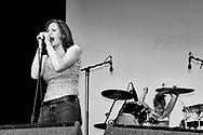 Brett Anderson and Torry Castellano - The Donnas, V2002, Hylands Park, Chelmsford, Essex, Britain - 18 August 2002