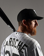 GLENDALE, ARIZONA - FEBRUARY 27:  Adam LaRoche of the Chicago White Sox poses for a portrait during White Sox photo day on February 27, 2015 at Camelback Ranch in Glendale Arizona.  (Photo by Ron Vesely)