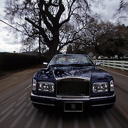Test driving the 2000 Rolls Royce Cornice, valued at $360,000.