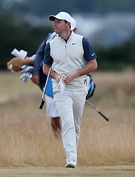 Northern Ireland's Rory McIlroy walks from the rough during preview day four of The Open Championship 2018 at Carnoustie Golf Links, Angus.