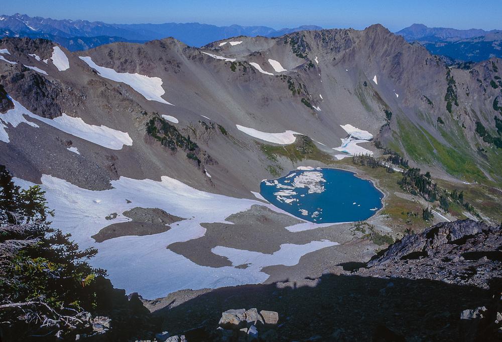Lost Lake, view from McCartney Peak,, Olympic National Park, Washington, USA